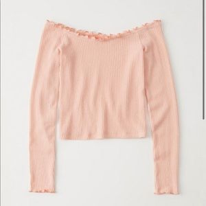 NWT Abercrombie off the shoulder shirt